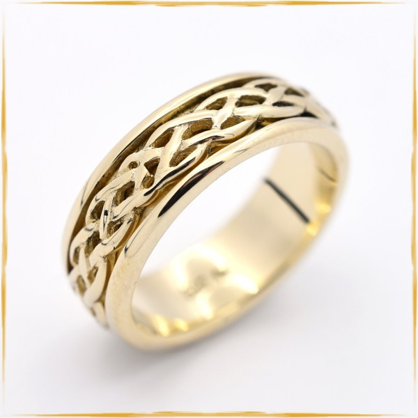 Ring | 585/000 Gold | Zopfmuster