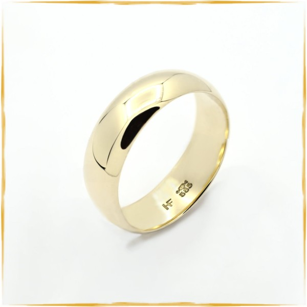 Ring | 585/000 Gold | massiv | Art Trauring