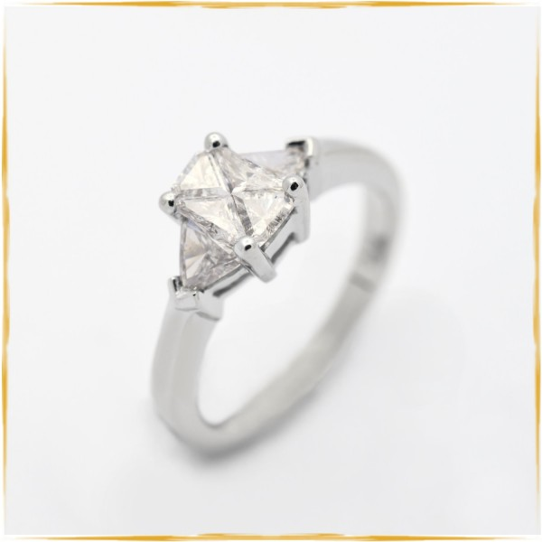 Ring   585/000 Weissgold   Trilliant