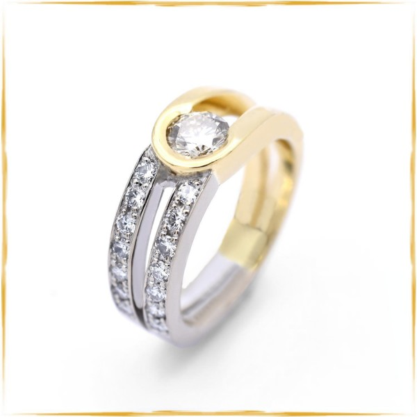 Ring | 750/000 Gold | zus. ca. 1,02 ct. Brillanten