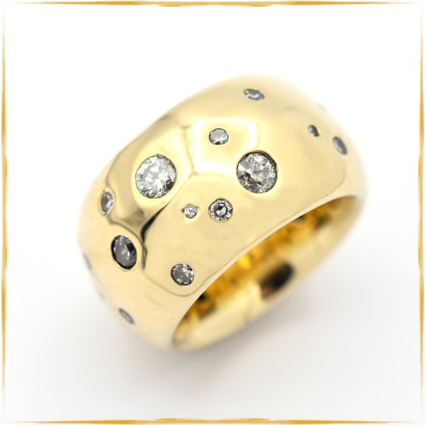 Ring | 750/000 Gold | Sternenhimmel | zus. ca. 1,00 ct. Diamanten