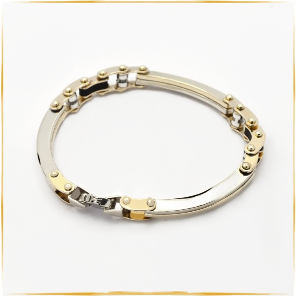 Armband | 585/000 Gold | Bicolor | 21 cm