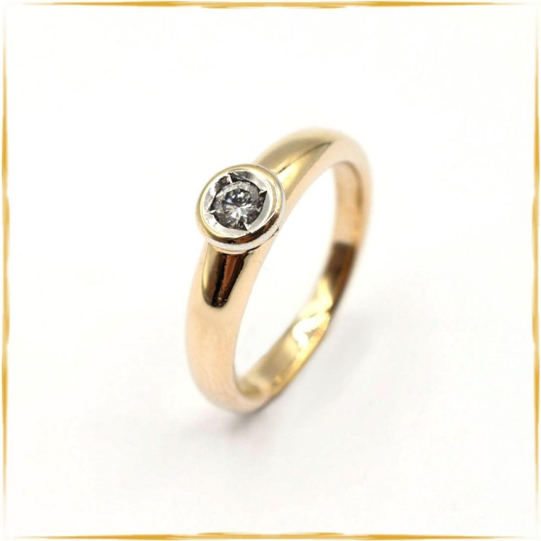 Solitär Ring | 585/000 Gold | ca. 0,25 ct. Brillant