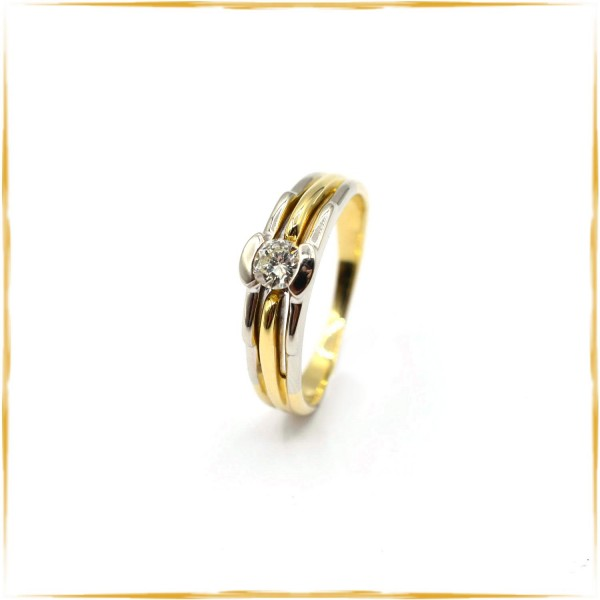 Solitär Ring | 750/000 Gold | ca. 0,33 ct. Brillant