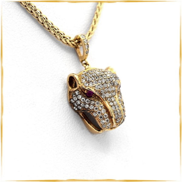 Collier Panther | 750/000 Gold | Zopfkette