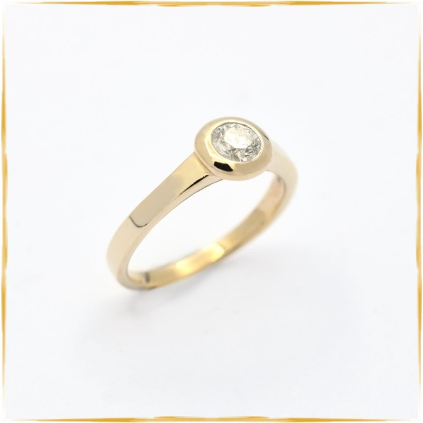 Solitär Ring | 585/000 Gelbgold | ca. 0,50 ct. Brillant